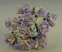 LIGHT LILAC WHITE ASTER Daisy (1.3 cm) Mulberry Paper Flowers